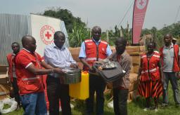 Recross Team Hands Over Support Materials